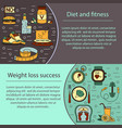 banner or flyer template weight loss diet card vector image vector image