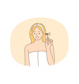 beauty procedure cosmetics home skincare concept
