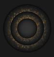 black minimal material design circle gold dot vector image vector image