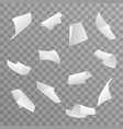 blank paper sheet 3d curl flying set transparent vector image vector image