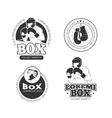 Boxing retro labels set vector image