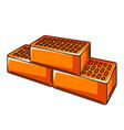 bricks stack housing construction vector image