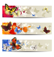 butterfly banners vector image vector image