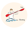 Canoeing vector image vector image