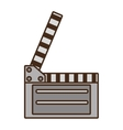 cartoon film clapper vector image