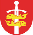 coat of arms of gdynia in the pomeranian vector image vector image