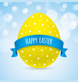 colorful easter greeting card design vector image vector image