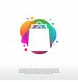 colorful shopping logo sale bag logo designs vector image vector image
