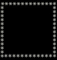 cute square snowflakes border for chrismas or new vector image