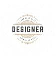 Designer Design Element in Vintage Style vector image vector image