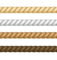 Different Thickness Rope Set vector image vector image