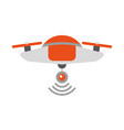 drone flying technology icon vector image