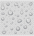 drops of water on transparent background flat icon vector image vector image