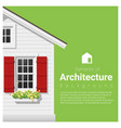 elements of architecture background vector image vector image