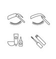 eyebrows shaping linear icons set vector image vector image