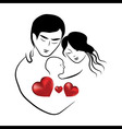 family heart icon symbol parents sketch lovely vector image