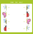 find half for insects vector image vector image