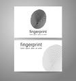 fingerprint logo identity vector image vector image