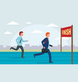 finish concept background flat style vector image vector image
