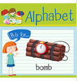 Flashcard letter B is for bomb vector image vector image