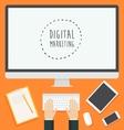 Flat design concept web Digital Marketing trendy vector image vector image