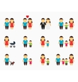 Flat family icons set vector image vector image