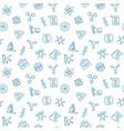 genetics seamless pattern in outline style