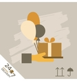 Gift xpress Delivery Symbols vector image