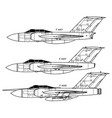 gloster javelin vector image vector image