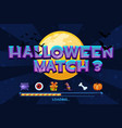 halloween match3 on background set icons and vector image
