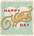 hand-lettered vintage Valantines card vector image vector image