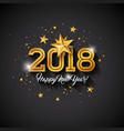 happy new year with typography letter vector image vector image