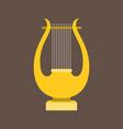 harp or lyre flat design vector image vector image