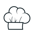 icon hat chef cooking design vector image vector image