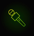 journalist microphone green icon or vector image