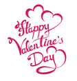 Lettering valentine day vector image