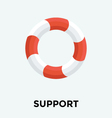Life Ring Icon vector image