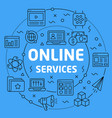 linear online services vector image vector image