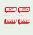 live icon banner eps10 vector image vector image