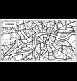 london map in black and white color