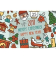 Merry Christmas and Happy New Year flat design vector image vector image