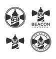 modern hipster lighthouse logo vector image vector image