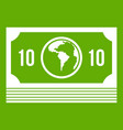 money stack icon green vector image vector image