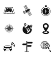 Navigation icons set simple style vector image vector image
