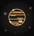 neon planet jupiter icon in thin line style vector image vector image