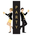 Party concept line cartoon style vector image vector image