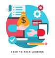 peer to peer lending vector image vector image