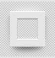 photo frame picture photoframe white 3d isolated vector image