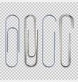 realistic paper clip vector image