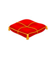 red ceremonial pillow monarchy attribute vector image